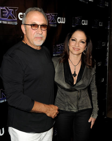 "Gloria Estefan (right) and her husband Emilio Estefan Jr. arrive at the after party to celebrate The CW's ""The Next"" and mentor Joe Jonas' birthday at Perch on August 15, 2012 in Los Angeles, California."