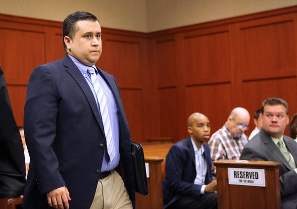 Scenes from the February 5, 2013, hearing of George Zimmerman, the accused shooter in the slaying of Trayvon Martin, in Seminole circuit court. Demonstrators commemorated what would have been Martin's 18th birthday with a memorial service outside the courthouse.