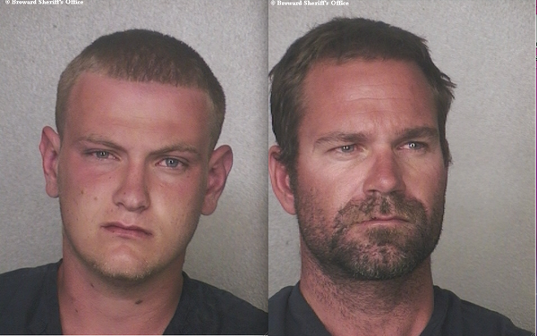 he two Fort Lauderdale yacht workers were arrested after allegedly failing to pay a $260 bar tab at the Bahia Cabana on Monday.