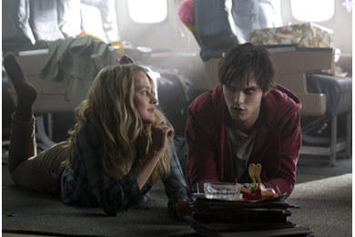 Nicholas Hoult plays R and Teresa Palmer plays Julie in Warm Bodies, in theaters Feb. 1.