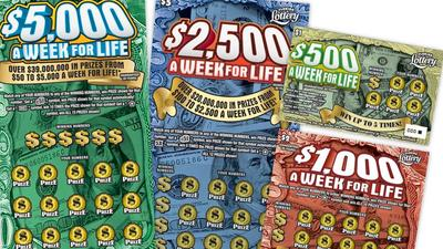 New scratch-off game: $5,000 a week for life