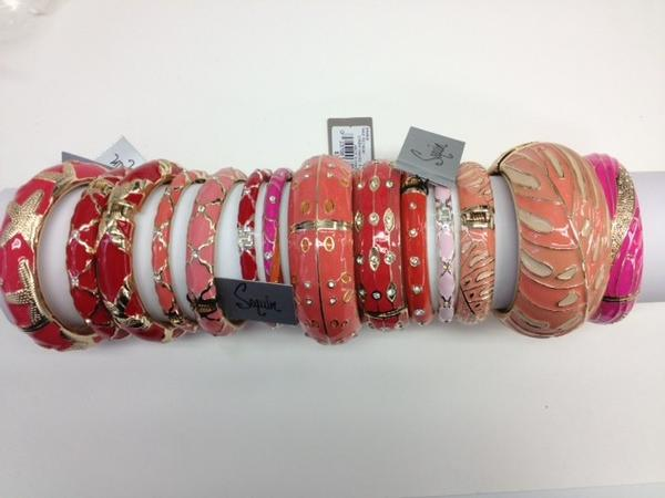 "Sequin's signature enamel bangle bracelets priced between $25 to $58.<br><br>  <b>City:</b> Delray Beach <br><br>  <b>Background:</b> The Minnesota-born sisters Kim and Linda Renk got a big boost from regular product placement on The CWs ""Gossip Girls."" <br><br> Although they started Sequin in NYC, they are both Florida snowbirds (Palm Beach and Fort Myers, respectively). There are two stores in Palm Beach (one on Worth Avenue, the other on South County Road) and the latest opened on Atlantic Boulevard in Delray Beach. <br><br>  <b>What you need to know: </b>The Delray Beach store also features the line they design for the house of Badgley Mischka (also SoFlo snowbirds). The pieces are often on the runways of Douglas Hannant (who also has a boutique on Worth Avenue), Ruffian and J. Mendel.  <br><br>  <b>How much:</b> $25 TO $375 <br><br>  <b>Website: </b> <a href=""https://www.sequin-nyc.com/#/home""target=""_blank"">Sequin-NYC.com</a>"
