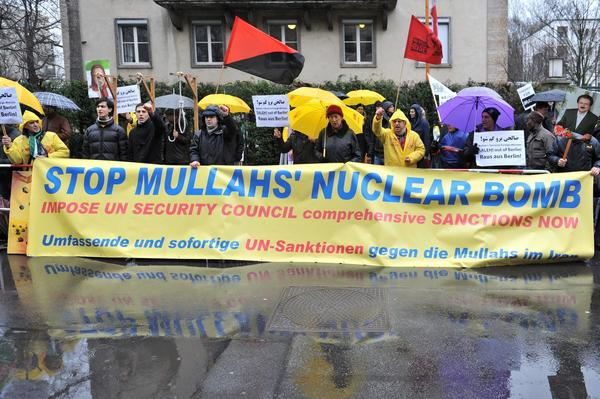 Protest against Iranian nuclear development