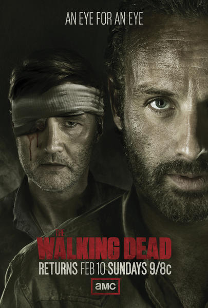 "In the midseason finale two months ago, Rick and his squad of trained killers busted up the Governor's precious town of Woodbury. In the melee, the Governor had one of his peepers gashed by Michonne. Now we just have to sit back and wait for Rick and the Gov' to throw down like Sylvester Stallone and Wesley Snipes at the end of ""Demolition Man."""