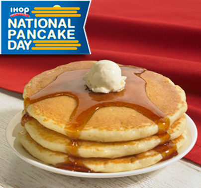IHOP is hosting its eighth pancake giveaway on Tuesday.