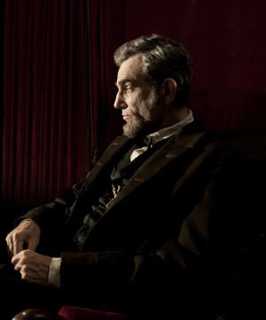"Daniel Day-Lewis as Abraham Lincoln in Steven Spielberg's Academy Award nominated film ""Lincoln."""