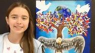 "Anastasiia Sevriukova, a 13-year-old girl from Oak Park, is a finalist in the international competition of the Lions International Peace Poster Contest, whose theme was ""Imagine Peace."""