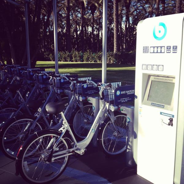 Billy Fried says Laguna Beach should have bike share kiosks, like this one in Anaheim.