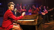 "Lance Lipinsky  plays Jerry Lee Lewis in the Chicago production of ""Million Dollar Quartet."""