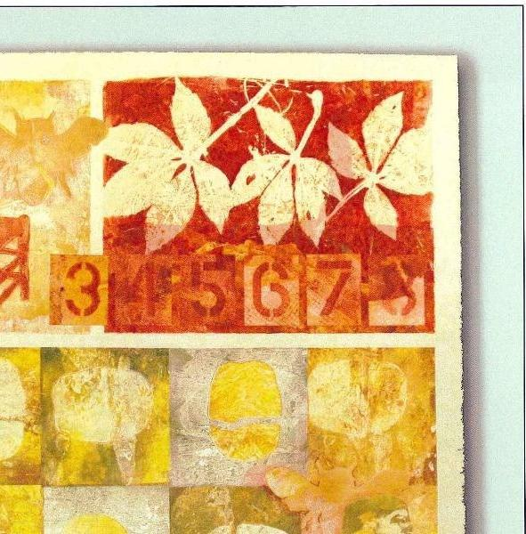 """Remembering the Seasons"" is a monotype by Bobbi Baugh."