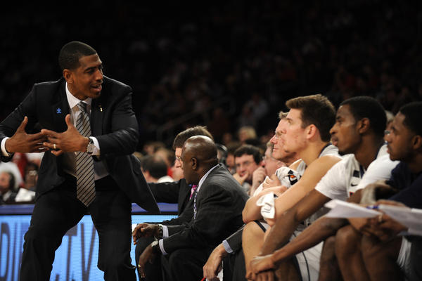 Coach Kevin Ollie and the Huskies weren't pleased with their other trip to Madison Square Garden. They lost to N.C. State on Dec. 4.