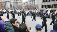 Marching Ravens at Super Bowl victory parade [Pictures]