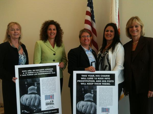 Members of the Broward Human Trafficking Coalition after the Feb. 5, 2013 meeting: Sgt. Debbie Bjorndalen of the Broward Sheriff's Office, Deputy Statewide Prosecutor Julie Chaikin Hogan, chair Adriane Reesey, Aggie Pappas, founding executive director of the Pace Center for Girls Broward, and Sherry Thompson Giordano, executive director of the Pace Center for Girls Miami-Dade, which is slated to open in 2014.