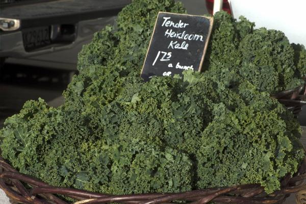 Kale and other dark green leafy vegetables contain calcium.