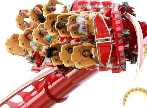 """Head-over-heels with intensity. These top-tier rides -- like Hollywood Rip Ride Rockit, above, at Universal Studios  -- go fast and might turn you upside-down.<br> <br> (Photo: JOE BURBANK/Orlando Sentinel)<br> <br> Vote on your favorite Orlando-area <a href=""""http://www.orlandosentinel.com/travel/attractions/orl-favorite-roller-coaster-062709,0,5601896.poll"""">roller coaster</a>!"""