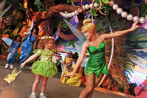 Pixie Hollow is a meet-and-greet attraction with Tinkerbell and friends at Mickey's Toontown Fair at Walt Disney World Magic Kingdom.