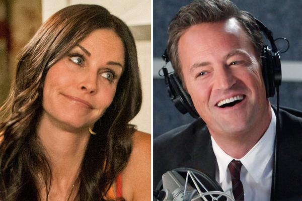 "Courteney Cox on ""Cougar Town"" and Matthew Perry on ""Go On."" They'll soon reunite when she guest stars on his show."