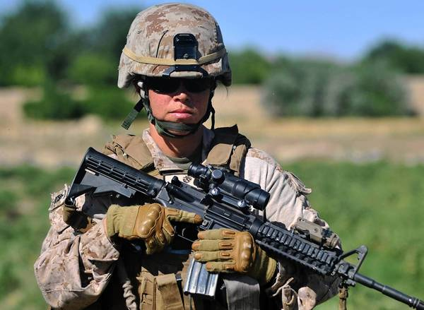 A U.S. Marine in Afghanistan last year.