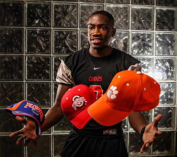 New Smyrna Beach slot receiver James Clark will sign with either Florida, Ohio State or Clemson today.