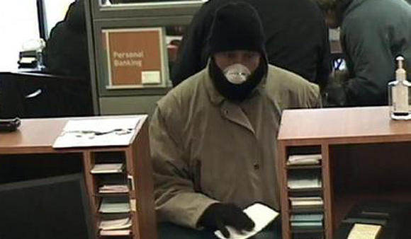 Fox Lake bank robber. FBI photo