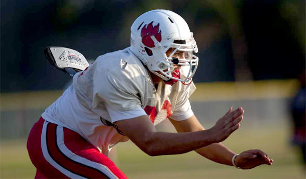 Former Redlands East Valley High defensive lineman Kylie Fitts announced he will attend UCLA after decommitting from USC.