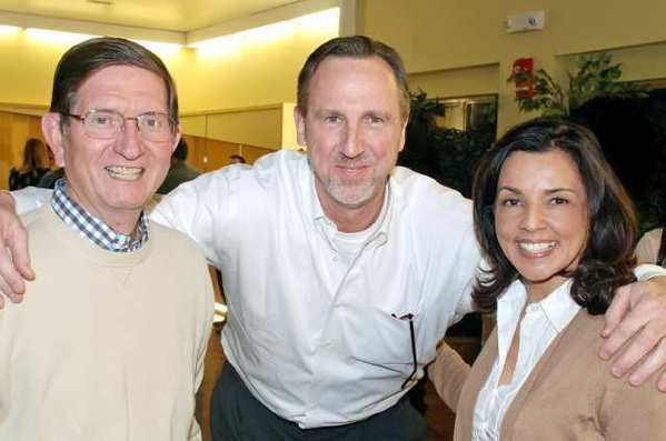 Among those who offered poker-faced support for the local Boys and Girls Club were, from left, Dave Augustine, Michael Walbrecht and Sherine Anderson.