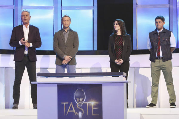 """The Taste"" judges, from left, Anthony Bourdain, Brian Malarkey, Nigella Lawson and Ludo Lefebvre."