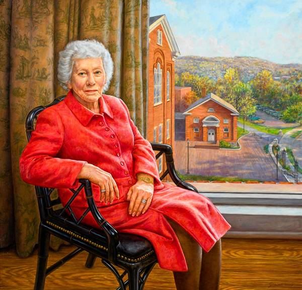 This portrait of Priscilla Payne Hurd was displayed at the Payne Gallery at Moravian College.
