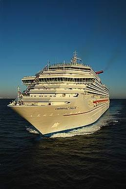 The Carnival Valor sails from the Port of Miami.