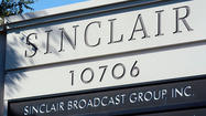 Sinclair Broadcast Group Inc. said profits soared in the fourth quarter, capping a presidential election year in which the Hunt Valley TV station owner saw record levels of political advertising, a rebound in auto advertising sales and rapid growth through acquisitions.