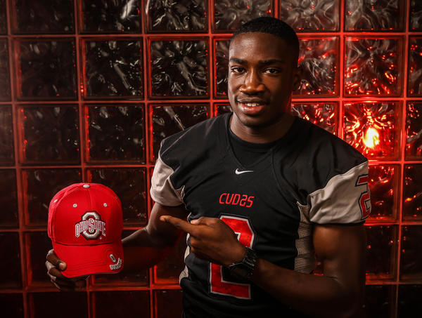 James Clark, a football player at New Smyrna Beach High School, commits to Ohio State University.