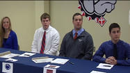 High school athletes from across the area are signing on to play at the college level.