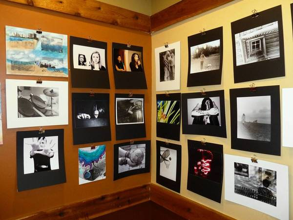 Caribou Coffee in Glen Ellyn has displayed local artists on its walls for about five years, but this is the coffeehouse's first exhibit of student work.