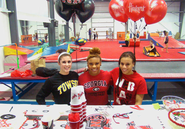 They are, from left, Bridget Steffen (Western Branch/Towson  State), Kiera Brown (Woodside/Georgia) and Ashley Lambert (Menchville/Nebraska)