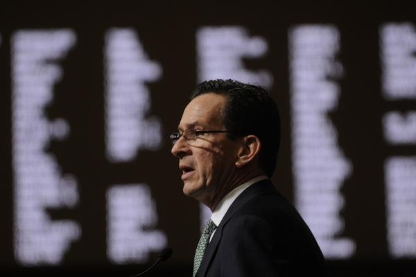 Gov. Dannel Malloy faced a joint session to deliver his budget address.