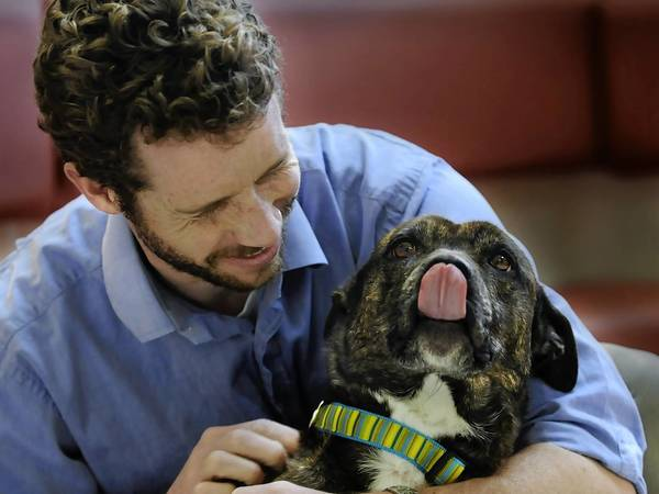 Dr. Michael Kendig, a vet who owns the Groton-Ledyard Veterinary Clinic, rescued Trixie from a Florida shelter four years ago.