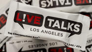 Starting Thursday, people who attend Live Talks Los Angeles events will be able to nosh on a Conversation Bar. It's a custom, branded energy bar that tastes a lot like cookie dough. It will be, as far as we've been able to determine, the first reading series energy bar.