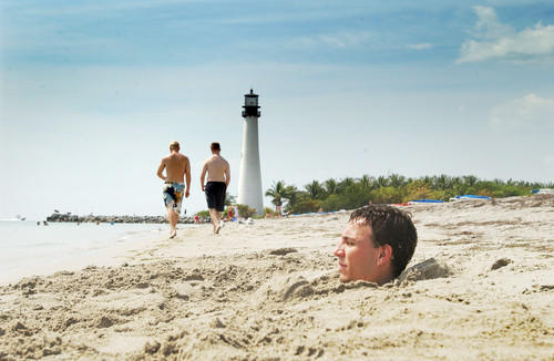 Whether you want to swim, go for a walk, or play in the sand, Bill Baggs Cape Florida State Park, on the southern end of the island, is the perfect place to be.