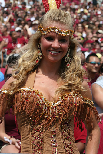 Photos: Florida State football fans and cheerleaders - FSU v BYU