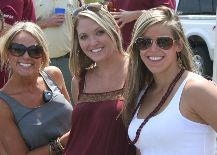 Photos: Florida State football fans and cheerleaders - BYU vs. FSU, Tallahassee