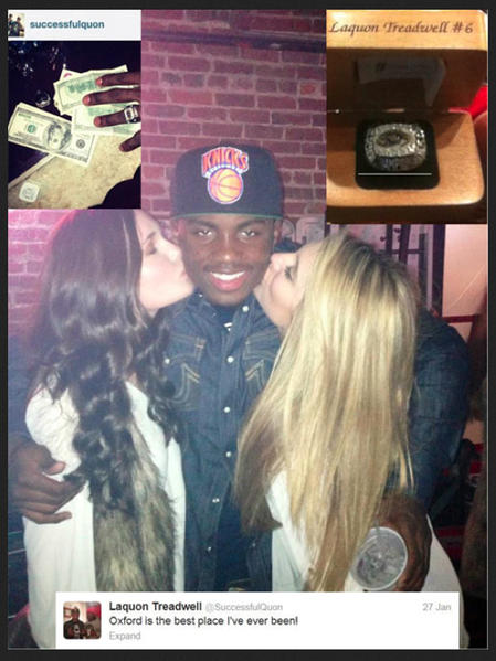Crete-Monee's Laquon Treadwell posted this photo on his Twitter feed in January. It since has been removed.