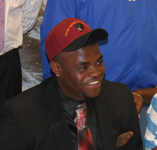 Wildwood football player Byron Mathews signed Wednesday with Florida Tech. (Courtesy of Wildwood High School)