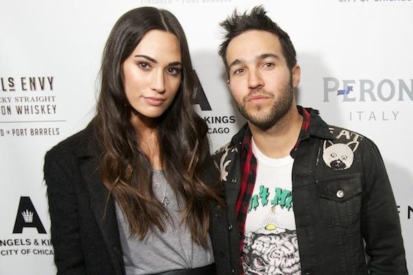 Rocker Pete Wentz (left) and girlfriend Meagan Camper (right) at the two-year anniversary of Angels & Kings in the Hard Rock Hotel Feb. 2, 2013.