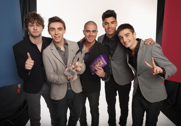 Singers Jay McGuiness, Nathan Sykes, Max George, Siva Kaneswaran and Tom Parker of The Wanted pose for a portrait during the 39th Annual People's Choice Awards at Nokia Theatre.