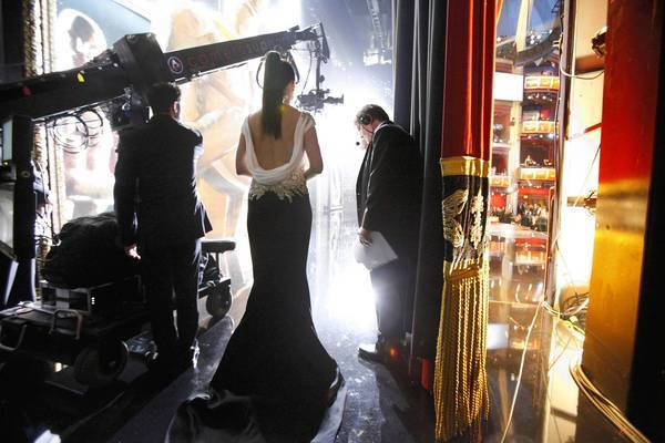 Advertisers gravitate to the Academy Awards because its audience has a high concentration of well-educated and affluent viewers with plenty of disposable income. Above, actress Sandra Bullock is backstage during last year's event.
