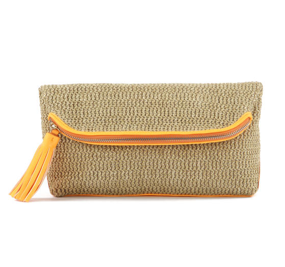 Danielle Nicole's Layla orange clutch