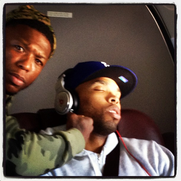 Bulls guard Nate Robinson (left) caught teammate Taj Gibson sleeping.
