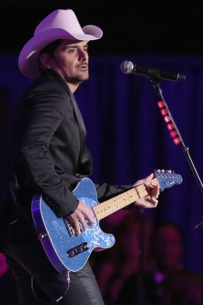 Country music recording artist Brad Paisley performs at the Commander in Chief's Ball on Jan. 21 in Washington, D.C.