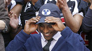 Photo Gallery: Glendale High School's Michael Davis signs letter of intent for BYU