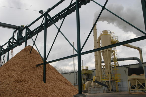 The Kirtland Products wood pellet manufacturing facility in Boyne City.